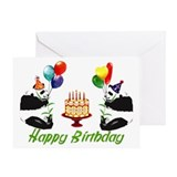 Panda birthday Greeting Cards