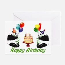 Birthday Pandas Greeting Card