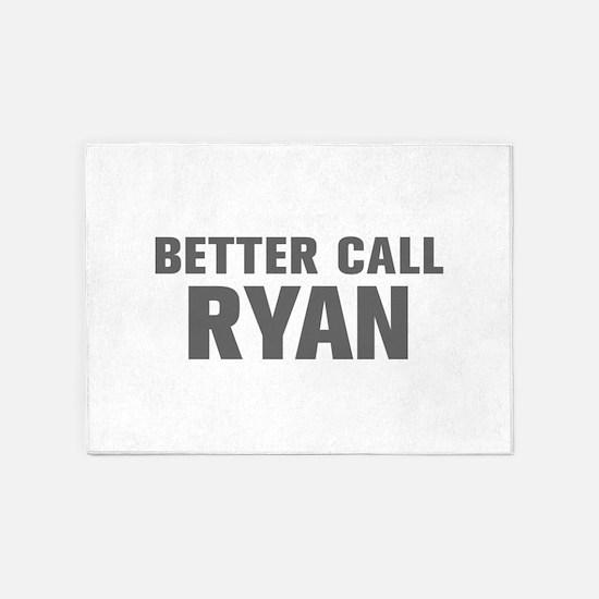 BETTER CALL RYAN-Akz gray 500 5'x7'Area Rug