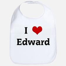 I Love Edward Bib