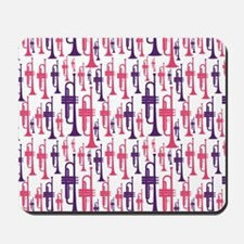 Pink and Purple Trumpet Mousepad