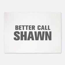 BETTER CALL SHAWN-Akz gray 500 5'x7'Area Rug