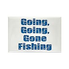 Going Fishing Rectangle Magnet