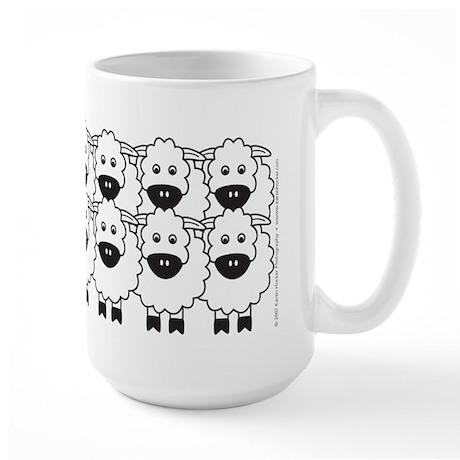 Red Kelpie and Sheep Large Mug