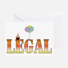 Finally Legal Birthday Greeting Card