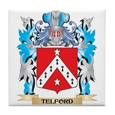 Telford Coat of Arms - Family Crest Tile Coaster