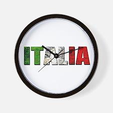 Italia Logo Wall Clock