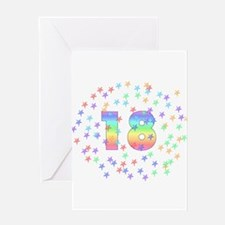 18th Birthday Pastel Stars Greeting Card