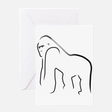 Silverback Gorilla Greeting Card