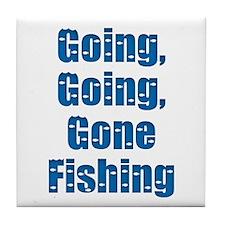 Going Fishing Tile Coaster