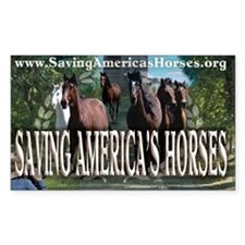 Saving America's Horses Decal