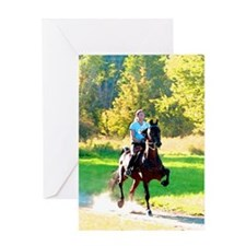 Trail Ride (watercolor) Greeting Card