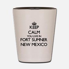 Keep calm you live in Fort Sumner New M Shot Glass