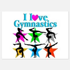 SUPER STAR GYMNAST Invitations