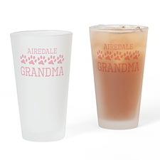 Airedale Grandma Drinking Glass