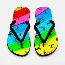 Rainbow Gymnast Flip Flops