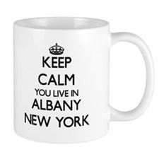Keep calm you live in Albany New York Mugs