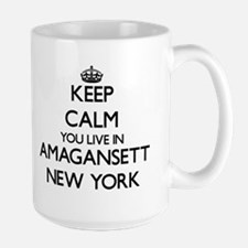 Keep calm you live in Amagansett New York Mugs