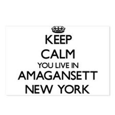 Keep calm you live in Ama Postcards (Package of 8)