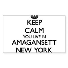 Keep calm you live in Amagansett New York Decal
