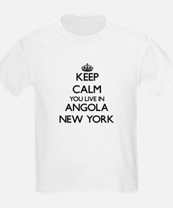 Keep calm you live in Angola New York T-Shirt