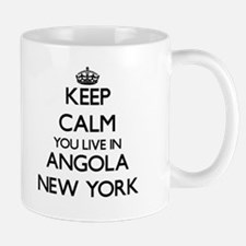 Keep calm you live in Angola New York Mugs