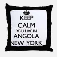Keep calm you live in Angola New York Throw Pillow