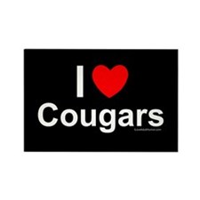 Cougars Rectangle Magnet