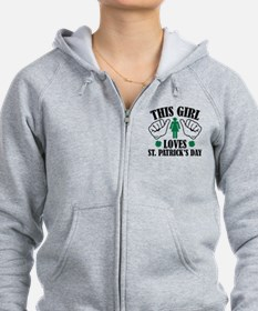 This Girl Loves St. Patrick's Day Zip Hoodie