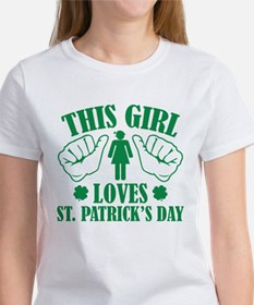 This Girl Loves St. Patrick's Day Women's T-Shirt