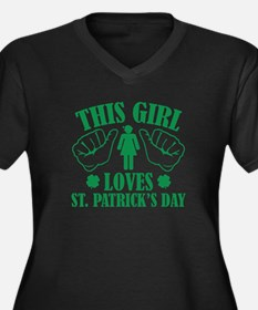 This Girl Loves St. Patrick's Day Women's Plus Siz