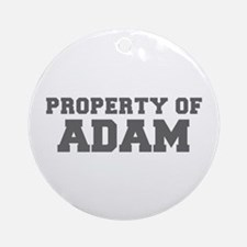 PROPERTY OF ADAM-Fre gray 600 Ornament (Round)
