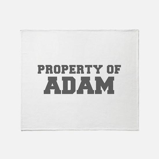 PROPERTY OF ADAM-Fre gray 600 Throw Blanket