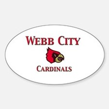 Webb City Cardinals Oval Decal