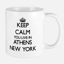 Keep calm you live in Athens New York Mugs