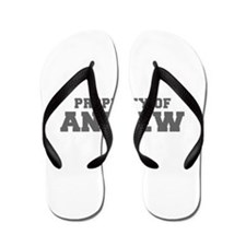 PROPERTY OF ANDREW-Fre gray 600 Flip Flops