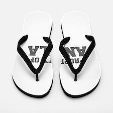 PROPERTY OF ANGELA-Fre gray 600 Flip Flops