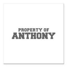 PROPERTY OF ANTHONY-Fre gray 600 Square Car Magnet