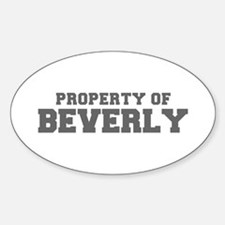 PROPERTY OF BEVERLY-Fre gray 600 Decal