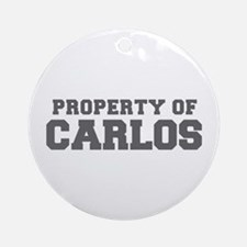 PROPERTY OF CARLOS-Fre gray 600 Ornament (Round)