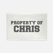 PROPERTY OF CHRIS-Fre gray 600 Magnets