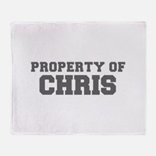 PROPERTY OF CHRIS-Fre gray 600 Throw Blanket