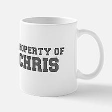 PROPERTY OF CHRIS-Fre gray 600 Mugs