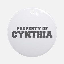 PROPERTY OF CYNTHIA-Fre gray 600 Ornament (Round)