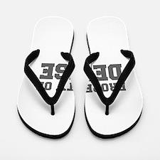PROPERTY OF DENISE-Fre gray 600 Flip Flops