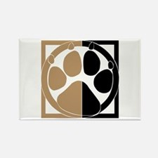 Tan Paw Print Rectangle Magnet