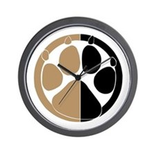 Tan Paw Print Wall Clock