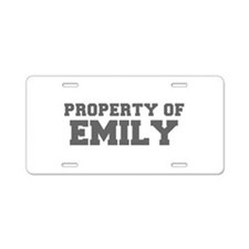 PROPERTY OF EMILY-Fre gray 600 Aluminum License Pl