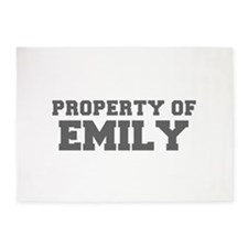 PROPERTY OF EMILY-Fre gray 600 5'x7'Area Rug