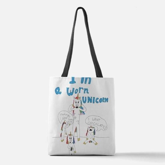 Worn Unicorn Polyester Tote Bag